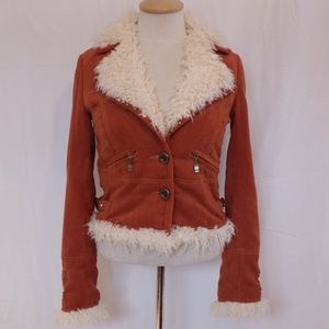 *HOST PICK*Mucci Faux Suede/Shearling Jacket- Sz S